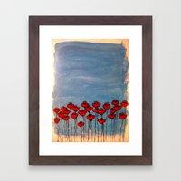 Sea of poppies. Framed Art Print