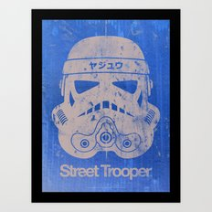 BEAST Street Trooper Head (Black on Cardboard) Art Print