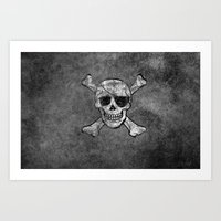 Black Pirate  Art Print