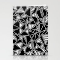 Abstract Outline Lines B… Stationery Cards