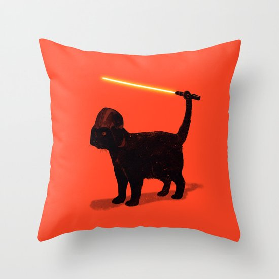 Cat Vader Throw Pillow