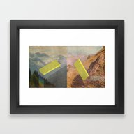 Framed Art Print featuring RAIN BOW MOUNTAINS by ICE CREAM FOR FREE