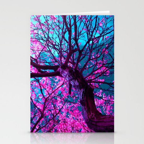 purple tree XII Stationery Card