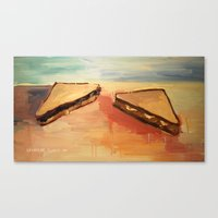Talking Sandwiches Canvas Print