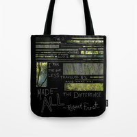 The Road Less Traveled By Tote Bag