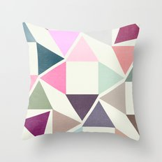 SPRING TRIANGLES Throw Pillow