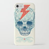 skulls iPhone & iPod Cases featuring Skull Bolt by Rachel Caldwell