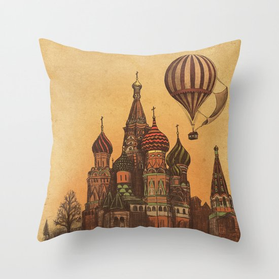Moving to Moscow Throw Pillow