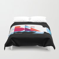 Postcards from Amsterdam / Bottle Ship Duvet Cover