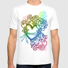 my chained heart Mens Fitted Tee SMALL White