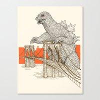 Godzilla Vs. The Brookly… Canvas Print