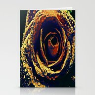 Stationery Cards featuring Rose With Tears Crossing by Die Farbenfluesterin