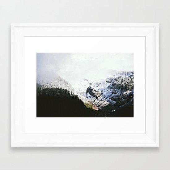 Mountain Valley Contrast Framed Art Print