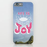 iPhone & iPod Case featuring Life is A Single Skip for Joy by Reg Lapid