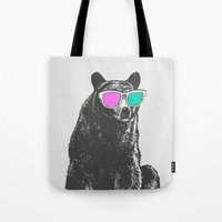 3D Is Un-bear-able  Tote Bag