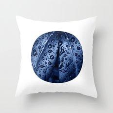 blue rain XII Throw Pillow