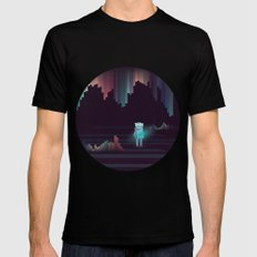 the adventure continues ! Mens Fitted Tee Black SMALL