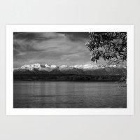 Olympic Mountains fine art print Art Print