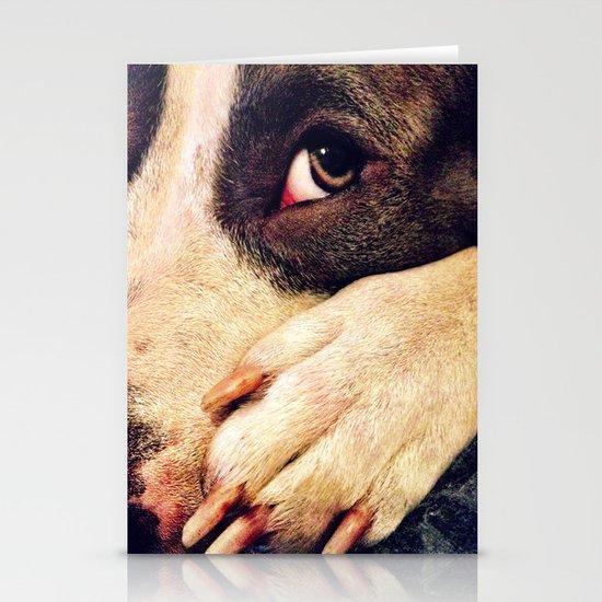 Pitbull profile Stationery Card