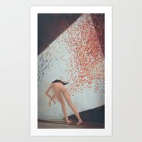 Eva Is Inside Her Cat Art Print