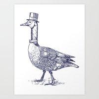 Papa Goose Art Print