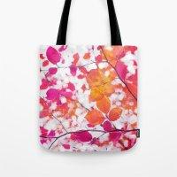 Pink Autumn Tote Bag
