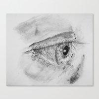Eye Sketch Canvas Print