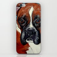 iPhone & iPod Skin featuring Oscar the Boxer by WOOF Factory