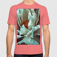 Peony II Mens Fitted Tee Pomegranate SMALL