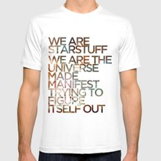 WE ARE STARSTUFF SMALL White Mens Fitted Tee