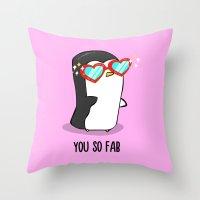 Fabulous Penguin Throw Pillow
