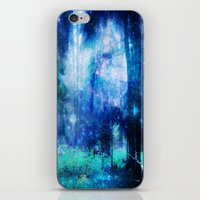 Blue Night #Wood iPhone & iPod Skin