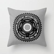 Mashers International (light grey) Throw Pillow