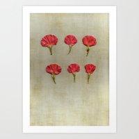 Nature petals Art Print