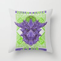 Hunting Club: Brachydios Throw Pillow
