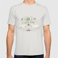 Spring Folk Art Mens Fitted Tee Silver SMALL