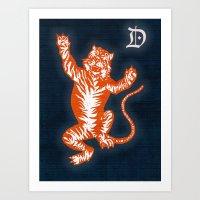 An Original Detroit Tiger's Logo (unofficial, of course) Art Print