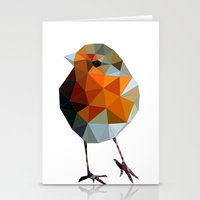 Christmas Poly Robin Stationery Cards