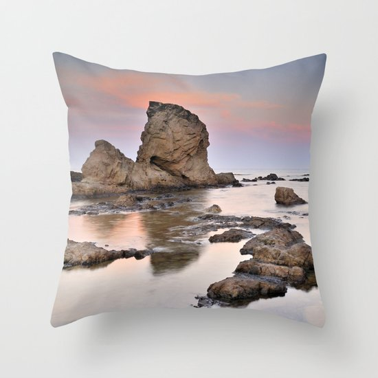 Volcanic coast Throw Pillow