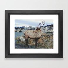 Mammoth Elk Framed Art Print