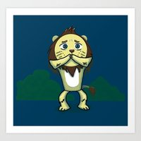 Cowardly Lion Art Print