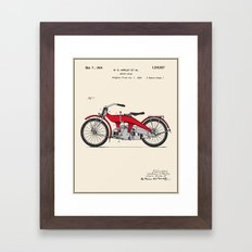 Motorcycle Patent - Colour Framed Art Print