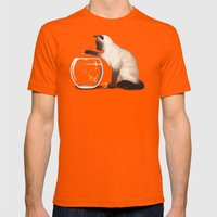 Goldfish need friend Mens Fitted Tee Orange SMALL