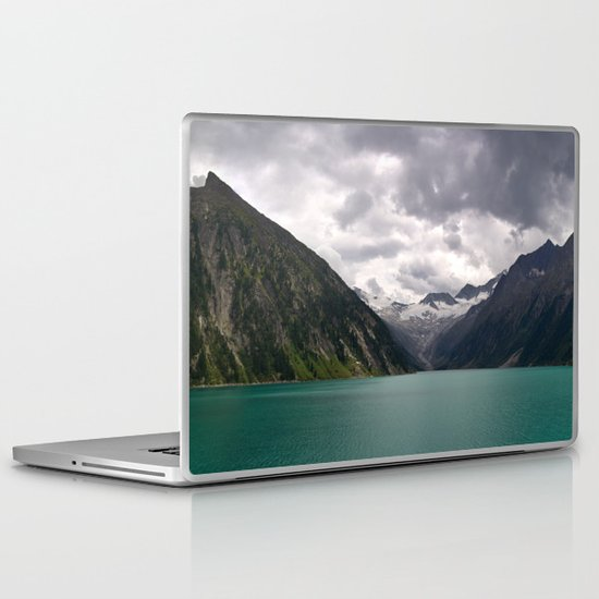 Schlegeis Lake, Austria | Panorama Laptop & iPad Skin
