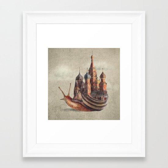The Snail's Daydream Framed Art Print