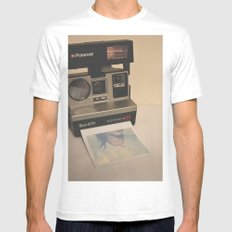 HELLO RETRO Mens Fitted Tee White SMALL