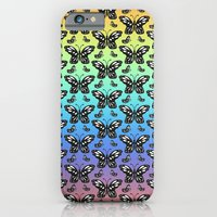 Butterfly pattern in color iPhone 6 Slim Case