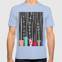 Wild Plants Mens Fitted Tee Tri-Blue SMALL