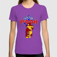 Doctor Pooh Womens Fitted Tee Ultraviolet SMALL