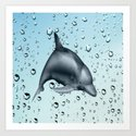 Swimming Dolphin Art Print